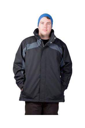 AGGRESSION TRINIDAD MENS PLUS SIZE SKI JACKET BLACK SIZES 7XL-10XL