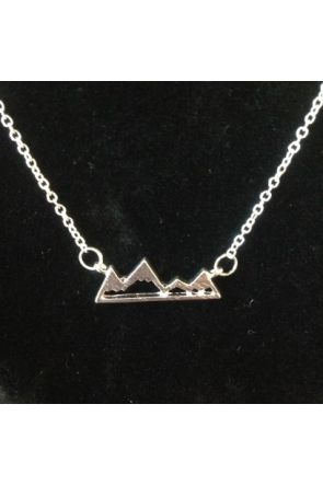 Beryl Silver Plated Mountain Necklace