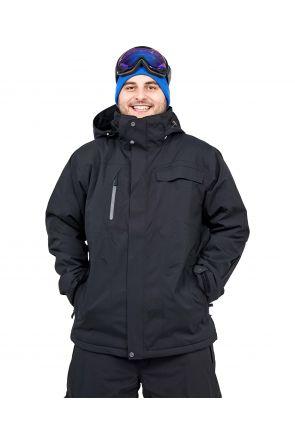 Cartel Baldy Mens Plus Size Ski Jacket Black Stretch 2XL - 9XL FRONT