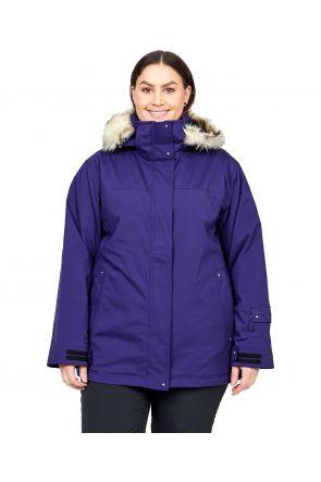 Cartel Brooklyn Womens Plus Size Ski Jacket Stretch Blueberry Navy Size 20-28 FRONT