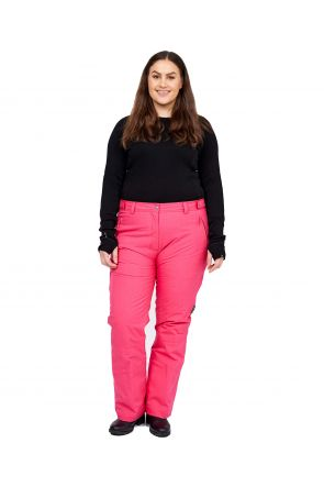 Cartel Queens Womens Plus Size Ski Pants SL Pink Heather 20-26 FRONT
