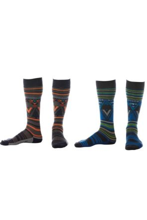 Elude Boys Mountain Aztec Snow Socks 2019 All Colours
