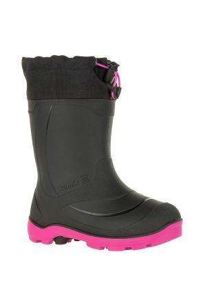 Kamik Snowbuster 1 Kids Apres Snow Boots Black Magenta 2020 front