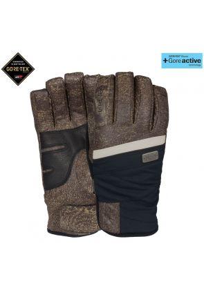 POW Empress GoreTex Womens Waterproof Leather Snow Glove Distressed