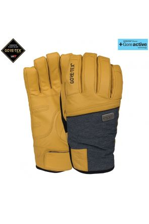 POW Empress GoreTex Womens Waterproof Leather Snow Glove Natural