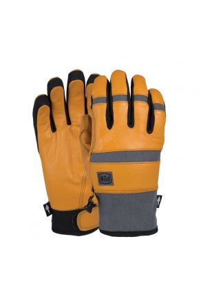 POW Villain Waterproof Mens Snow Gloves Tobacco