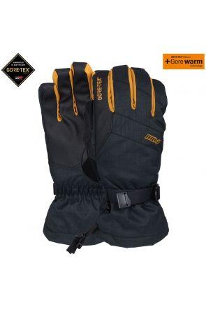 POW Warner GoreTex Mens Ski Long Gloves Tobacco