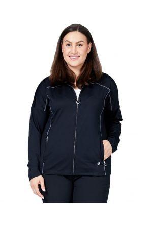 Raiski Suzu R+ Womens Plus Size Thermal Jacket Black Front