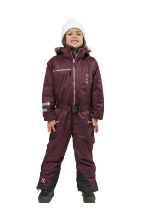 XTM Akira Kids Snow Suit All in one Shiraz Full Front
