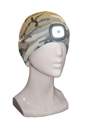 XTM Blinder Unisex LED Light Up Beanie Snow Camo 2019 Side