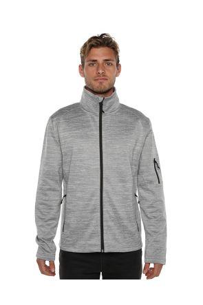XTM Crusade Mens Snow Fleece Jacket Light Grey 2019 Front