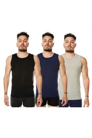 XTM Merino Wool Mens Thermal Tank Top All Colors