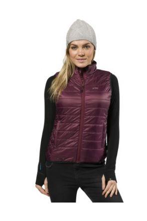 XTM Peppin Womens Puffer Vest Shiraz 2019 front