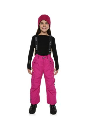 XTM Pluto Kids Ski Pant Berry Pink Front