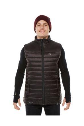 XTM Saxon Mens Puffer Vest Black 2019  Front