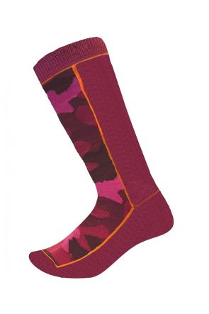 XTM Trooper Kids Snow Socks 2 PAIR PACK Burgundy