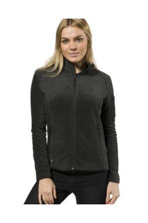 XTM Wildcat Ladies Snow Fleece Jacket Dark Grey Marle 2019 front