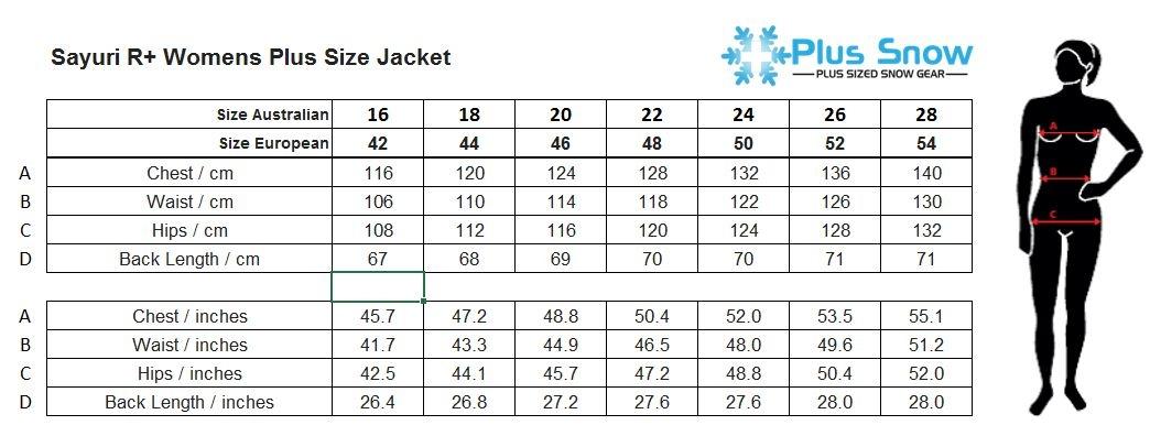 Raiski Sayuri R+ Womens Plus Size Ski Jacket