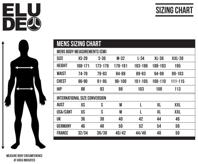 Elude Mens Ski Jacket Size Chart