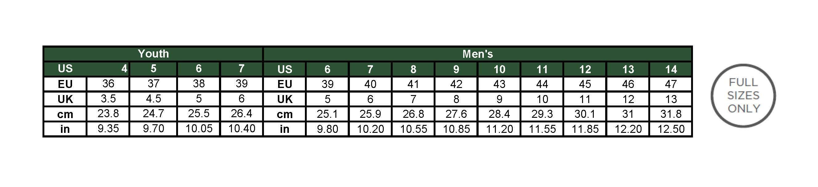 Kamik Mens Apres Snow Boot Size Chart